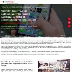 Comment gérez-vous vos publications sur les réseaux numériques ? Testez et approfondissez vos connaissances