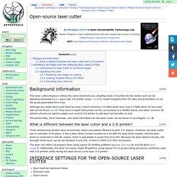 Open-source laser cutter
