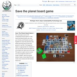 Save the planet board game - Appropedia