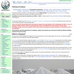 Hexayurt Playa - Appropedia