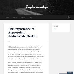 The Importance of Appropriate Addressable Market – Biopharmavantage