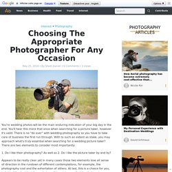 For Any Occasion How To Choose The Appropriate Photographer in Northamptonshire