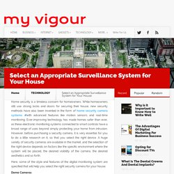 Select an Appropriate Surveillance System for Your House