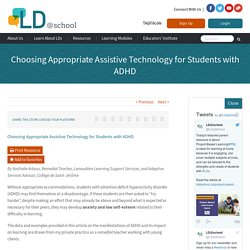 Choosing Appropriate Assistive Technology for Students with ADHD