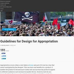 Guidelines for Design for Appropriation
