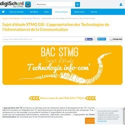 L'appropriation des TIC - Sujet d'étude Bac STMG GSI 2014