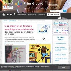 S'approprier un tableau numérique en maternelle - Prim à bord