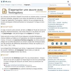 L'écriture du texto : s'approprier une œuvre avec Textingstory en Lettres