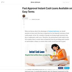 Fast Approval Instant Cash Loans Available on Easy Terms