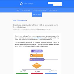 Create an approval workflow with e-signature using Form Publisher - Google Apps Script Examples