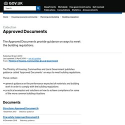 Approved Documents