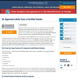 Avail Best UL Approved Labels