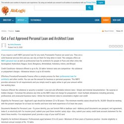 Get a Fast Approved Personal Loan and Architect Loan
