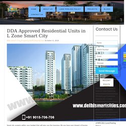 DDA Approved Residential Units in L Zone Smart City
