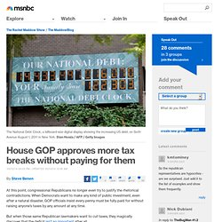 House GOP approves more tax breaks without paying for them