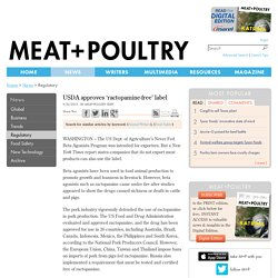 MEAT POULTRY 09/08/15 USDA approves 'ractopamine-free' label