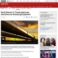 Nord Stream 2: Trump approves sanctions on Russia gas pipeline