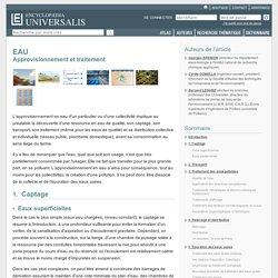 EAU - Approvisionnement et traitement