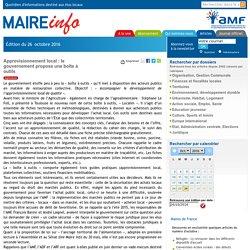 Approvisionnement local : le gouvernement propose une boîte à outils- Maire-info / AMF