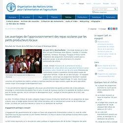 FAO 23/08/13 Les avantages de l'approvisionnement des repas scolaires par les petits producteurs locaux