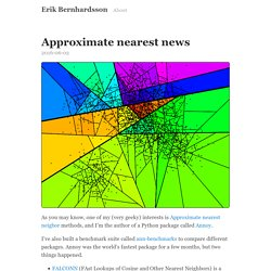 Approximate nearest news · Erik Bernhardsson