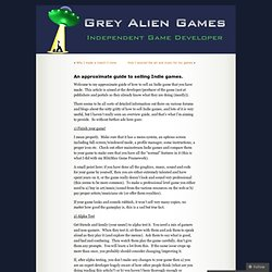 An approximate guide to selling Indie games. « Grey Alien Games