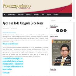 Apps que Todo Abogado Debe Tener - Foro Jurídico