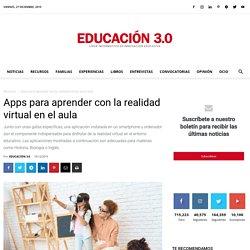 Apps para aprender con la realidad virtual