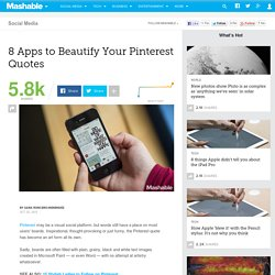 8 Apps to Beautify Your Pinterest Quotes