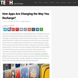 Apps Changing the Way You Recharge