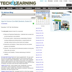 - Apps for Common Core Math Standards, Grades 6-8