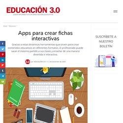 Apps para crear fichas interactivas