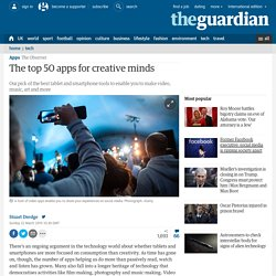 The top 50 apps for creative minds