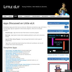 Apps Discussed on Little eLit