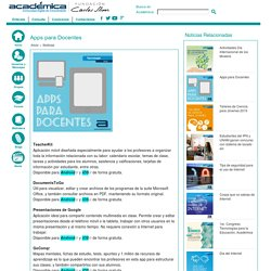 Apps para Docentes