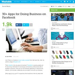 30+ Apps for Doing Business on Facebook