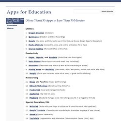 Apps for Education