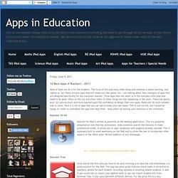 Apps in Education: 10 Best Apps 4 Teachers