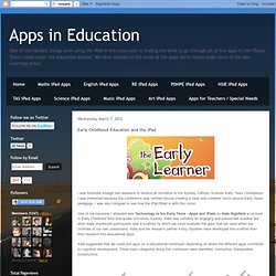 Early Childhood Education and the iPad