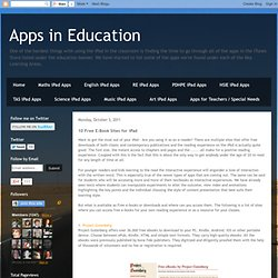 10 Free E-Book Sites for iPad