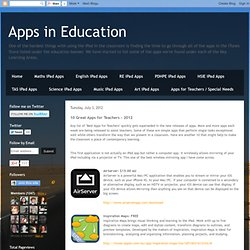 Another 10 Great Apps for Teachers