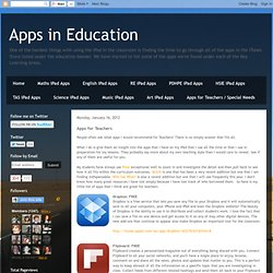 2012 Apps for Teachers