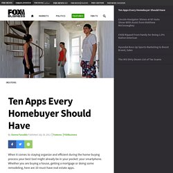 Ten Apps Every Homebuyer Should Have