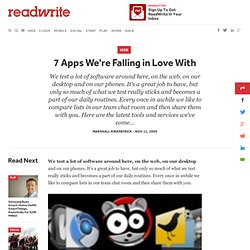 7 Apps We're Falling in Love With
