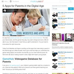 5 Apps for Parents in the Digital Age