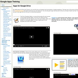 Apps for Google Drive - Google Apps Training