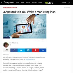 3 Apps to Help You Write a Marketing Plan