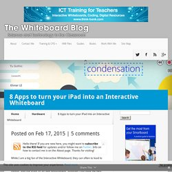 8 Apps to turn your iPad into an Interactive Whiteboard