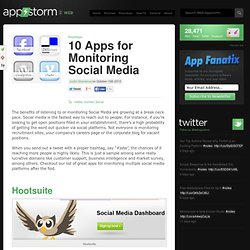 10 Apps for Monitoring Social Media