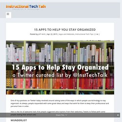 15 Apps to Help You Stay Organized